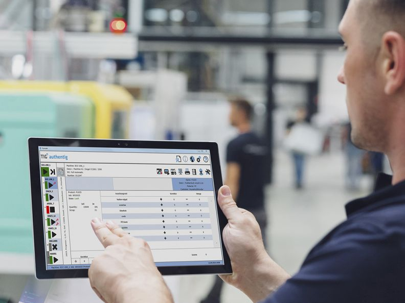"Software ""authentig"" auf Tablet"
