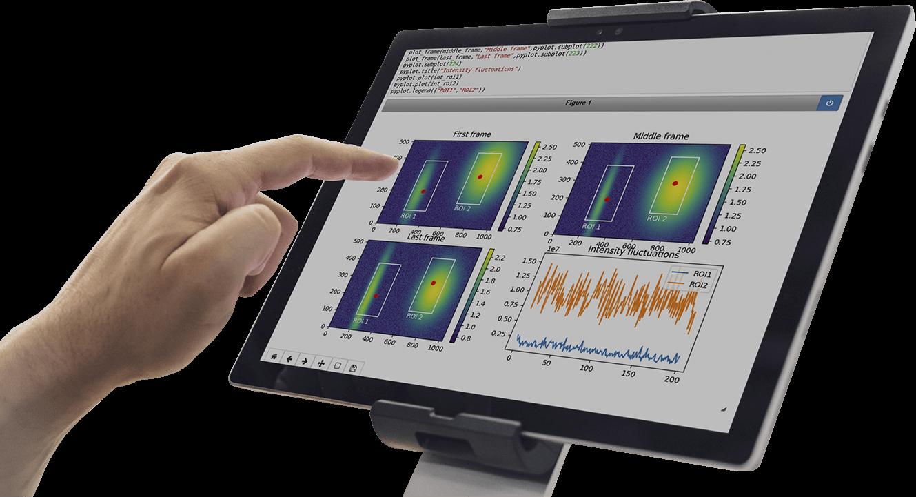 TIG big data Software in Tablet