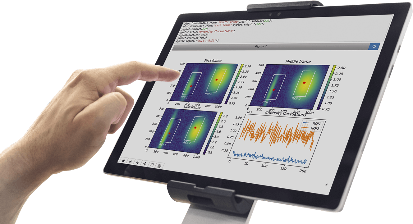 TIG big data Software in Tablet